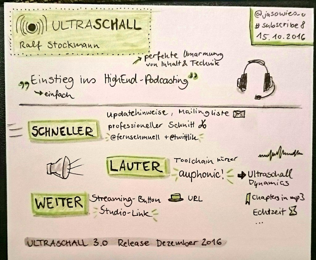 Ultraschall Sketchnote