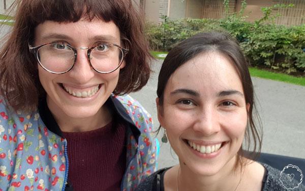 selfie jeanne und jana